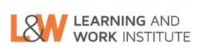 Grey Learning and Work Institute logo with orange L&W and grey ampersand symbol