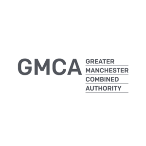 Black logo for GMCA Greater Manchester Combined Authority