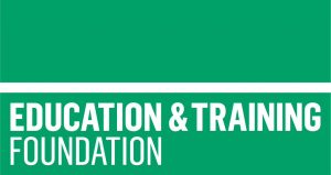 Green logo for the Education and Training Foundation