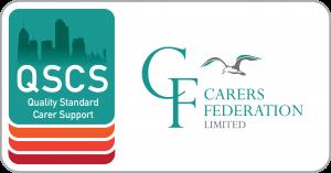 QSCS logo with CF