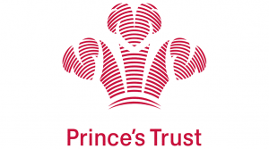 Red feather crown logo for Prince's Trust