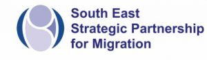 Blue and purple logo for South East Strategic Partnership for Migration (SESPM)