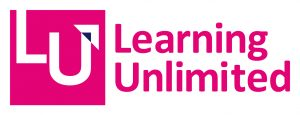 Bright pink logo for Learning Unlimited