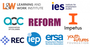 A range of logos from the co-authors of No Time To Lose report