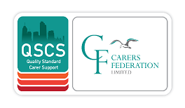 Bright green logo of Carer's Federation
