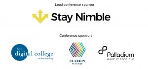 ES20 sponsors: Stay Nimble, the Digital College, Clarion Futures, Palladium